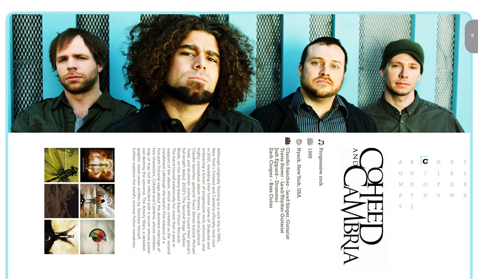 Coheed and Cambria Publication Layout Design