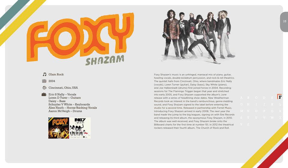 Foxy Shazam Publication Layout Design