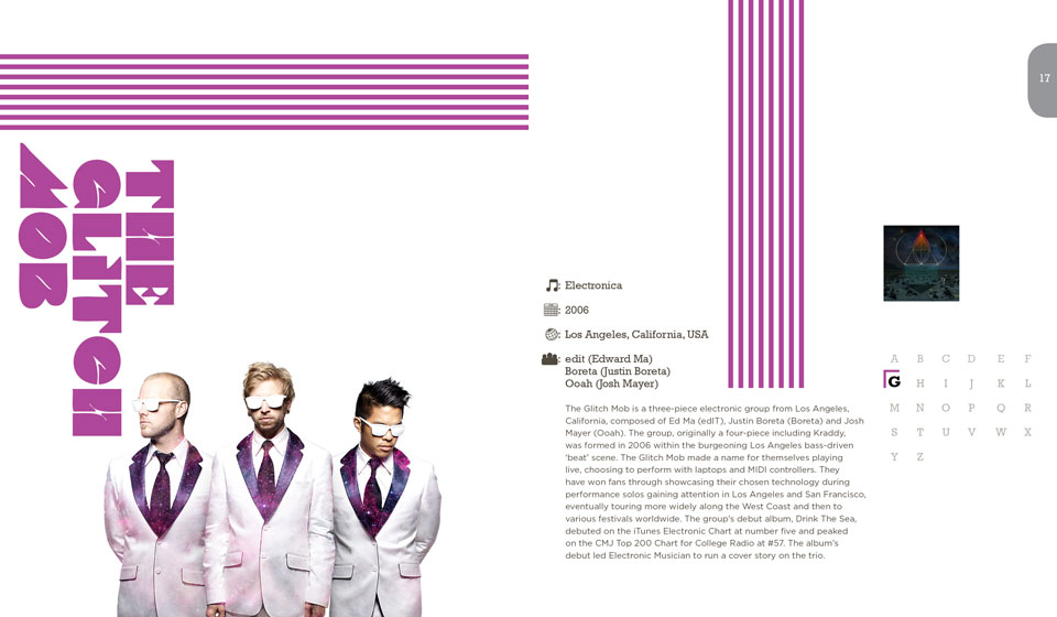 The Glitch Mob Publication Layout Design