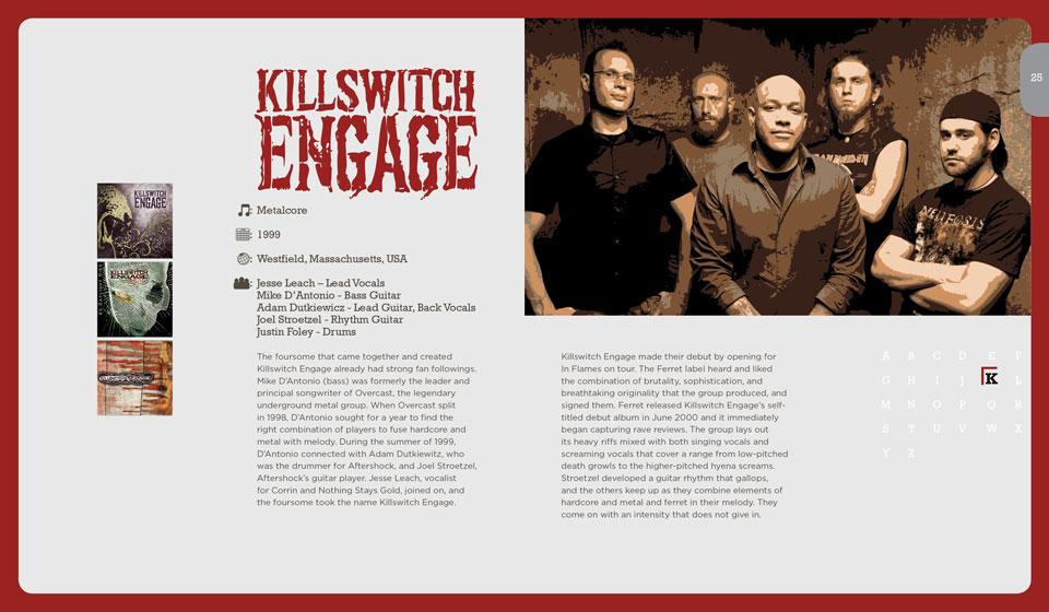 Killswitch Engage Publication Layout Design