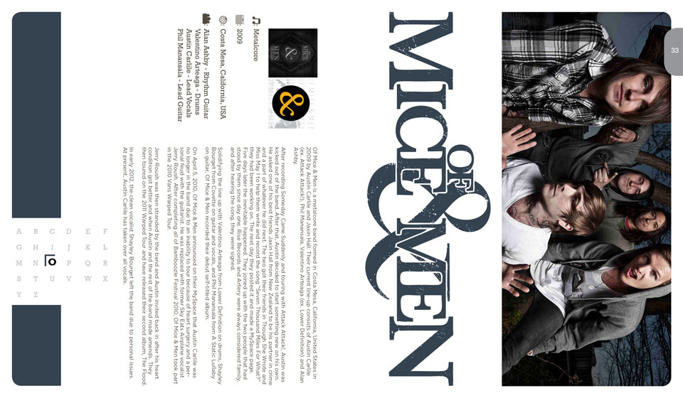 Of Mice & Men Publication Layout Design